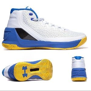 Under Armour Stephen Curry 3 - white/blue/yellow